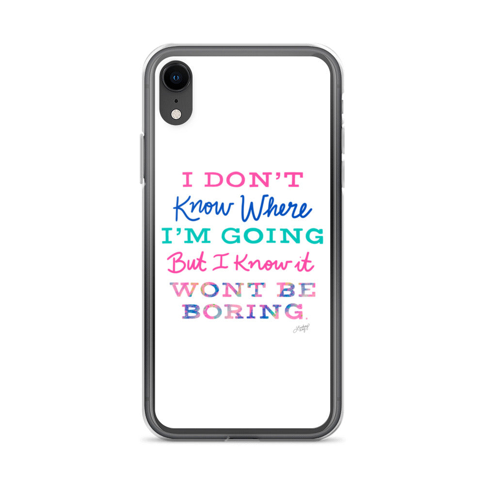 David Bowie Quote (Colorful Palette) - iPhone Case