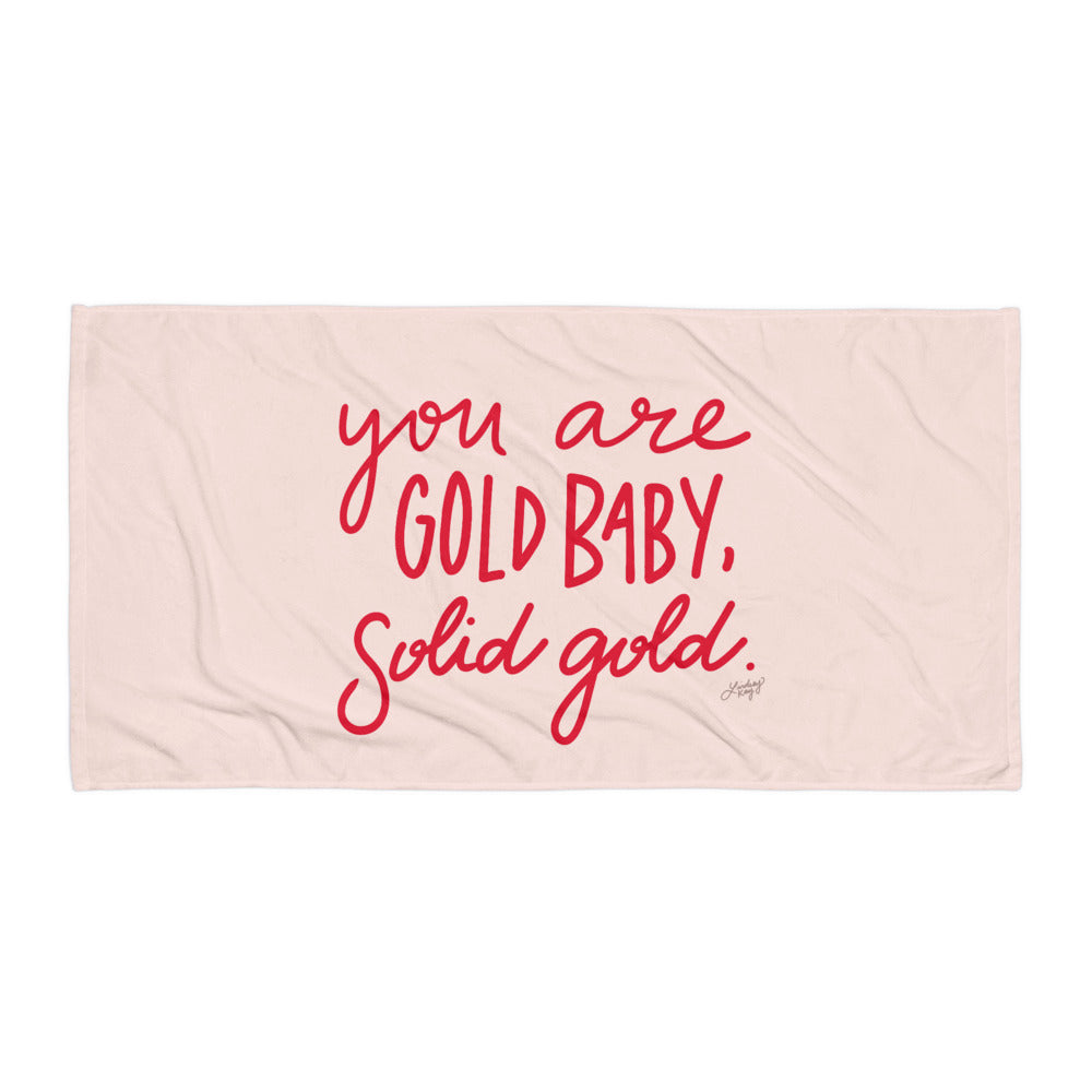 Solid Gold (Red/Pink Palette) - Beach Towel