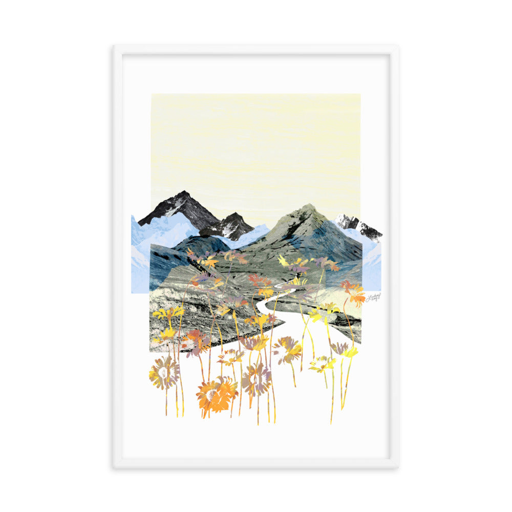 Daisy Mountain Collage - Framed Matte Print