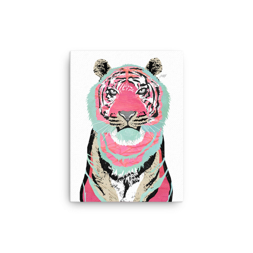 Pink Tiger Collage - Canvas
