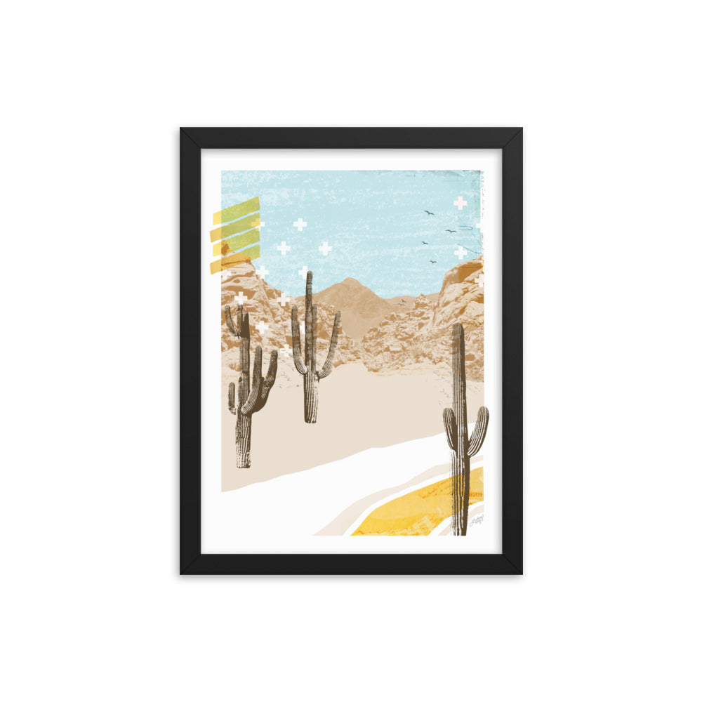 Desert Mountain Collage - Framed Matte Print