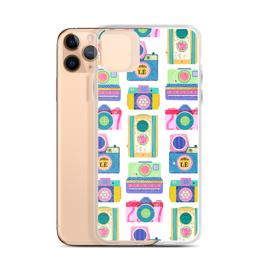 colorful vintage camera iphone case designed by lindsey kay collective
