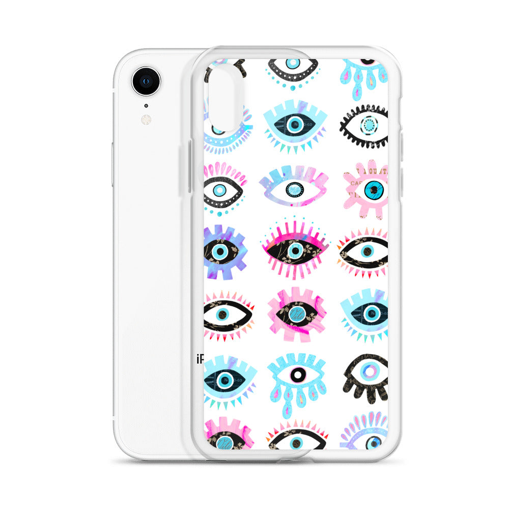 Evil Eyes (Colorful Palette) - iPhone Case