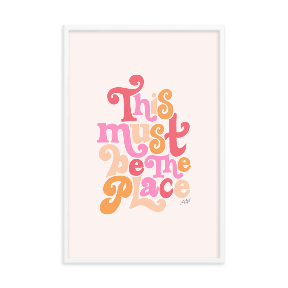 This Must Be the Place (Colorful Palette) - Framed Matte Print