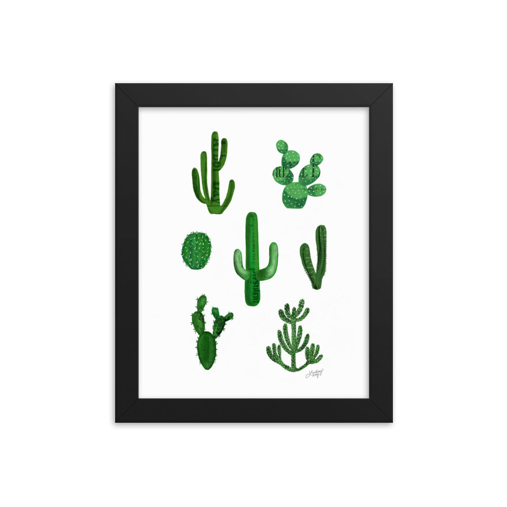 Cactus Illustration. - Framed poster