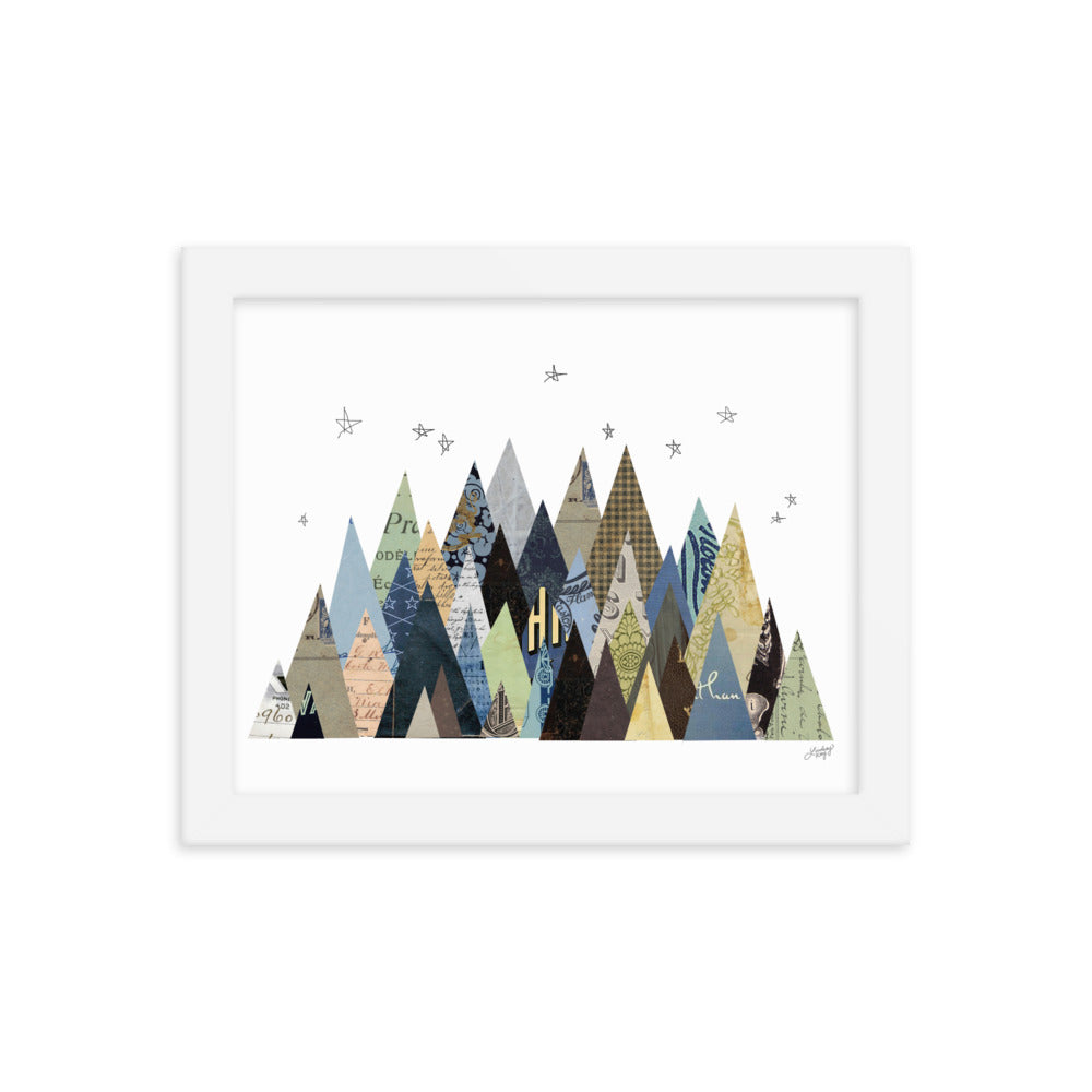 Mountain Collage - Framed Matte Print