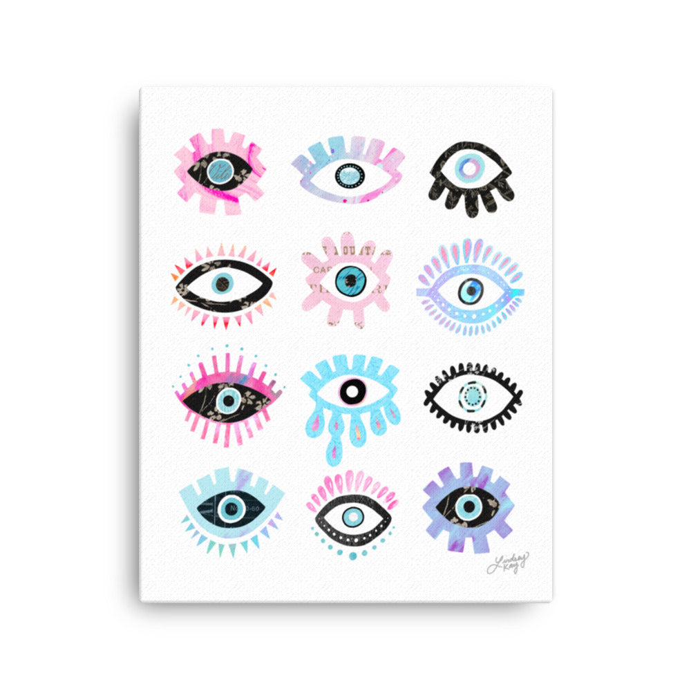 Evil Eyes (Colorful Palette) - Canvas