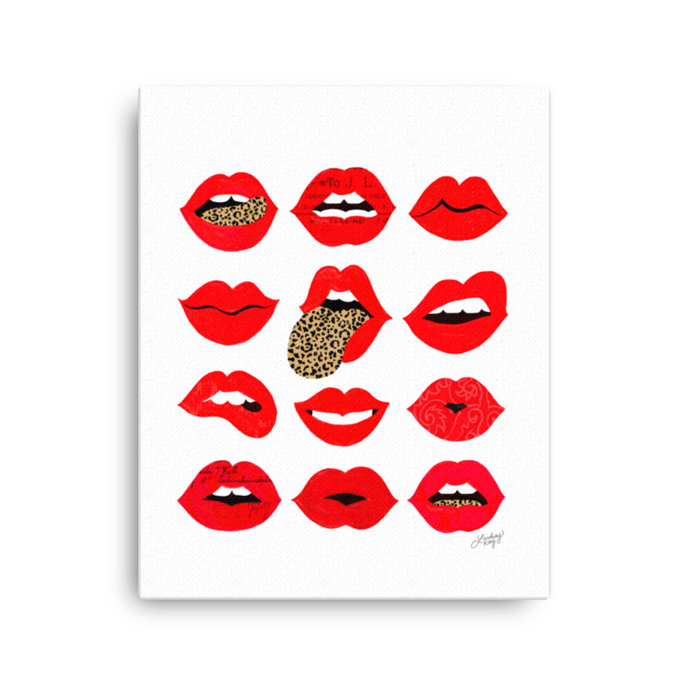 Leopard Lips of Love - Canvas