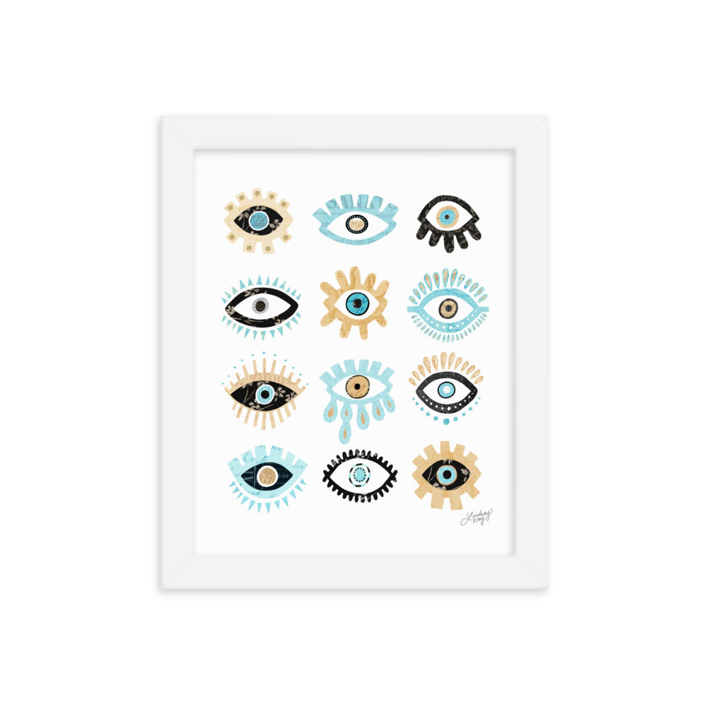 Evil Eyes - Framed Matte Print