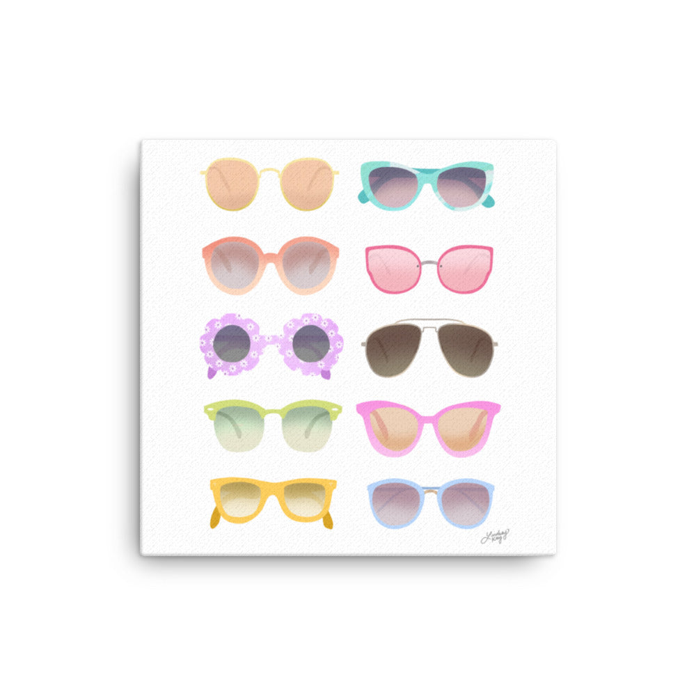 Colorful Sunglasses Illustration - Canvas