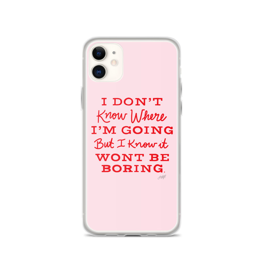 David Bowie Quote (Pink/Red Palette) - iPhone Case