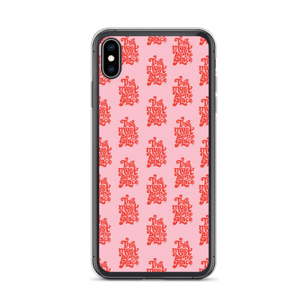 This Must Be the Place (Pink Palette) - iPhone Case