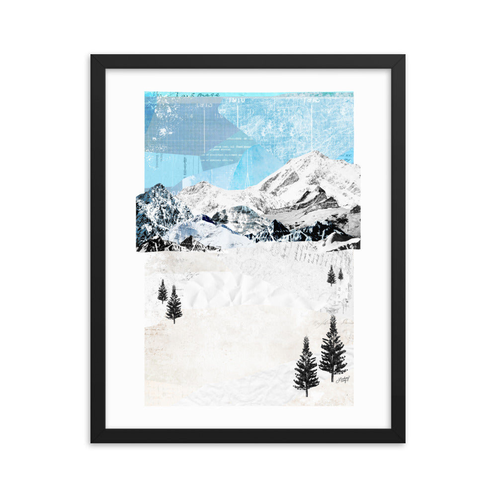 Mountain Landscape - Framed Matte Print
