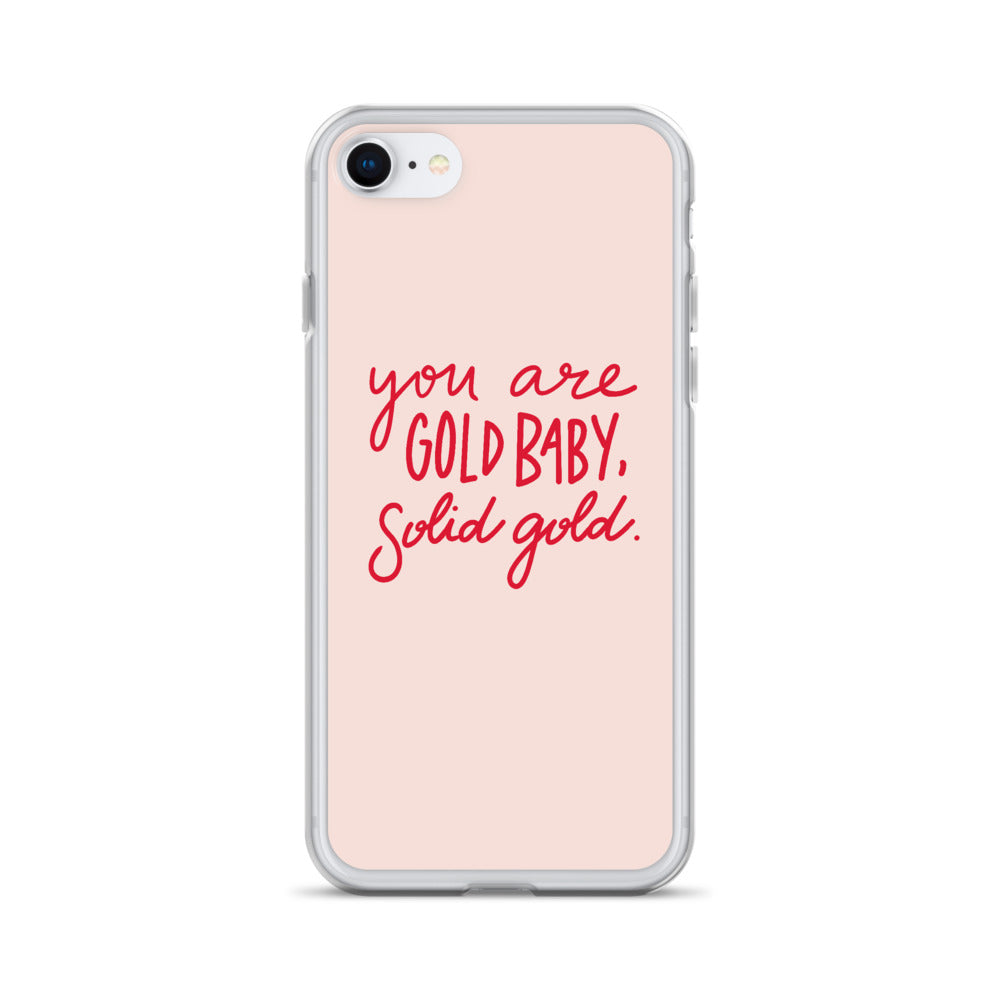 You Are Gold Baby, Solid Gold (Pink Palette) - iPhone Case