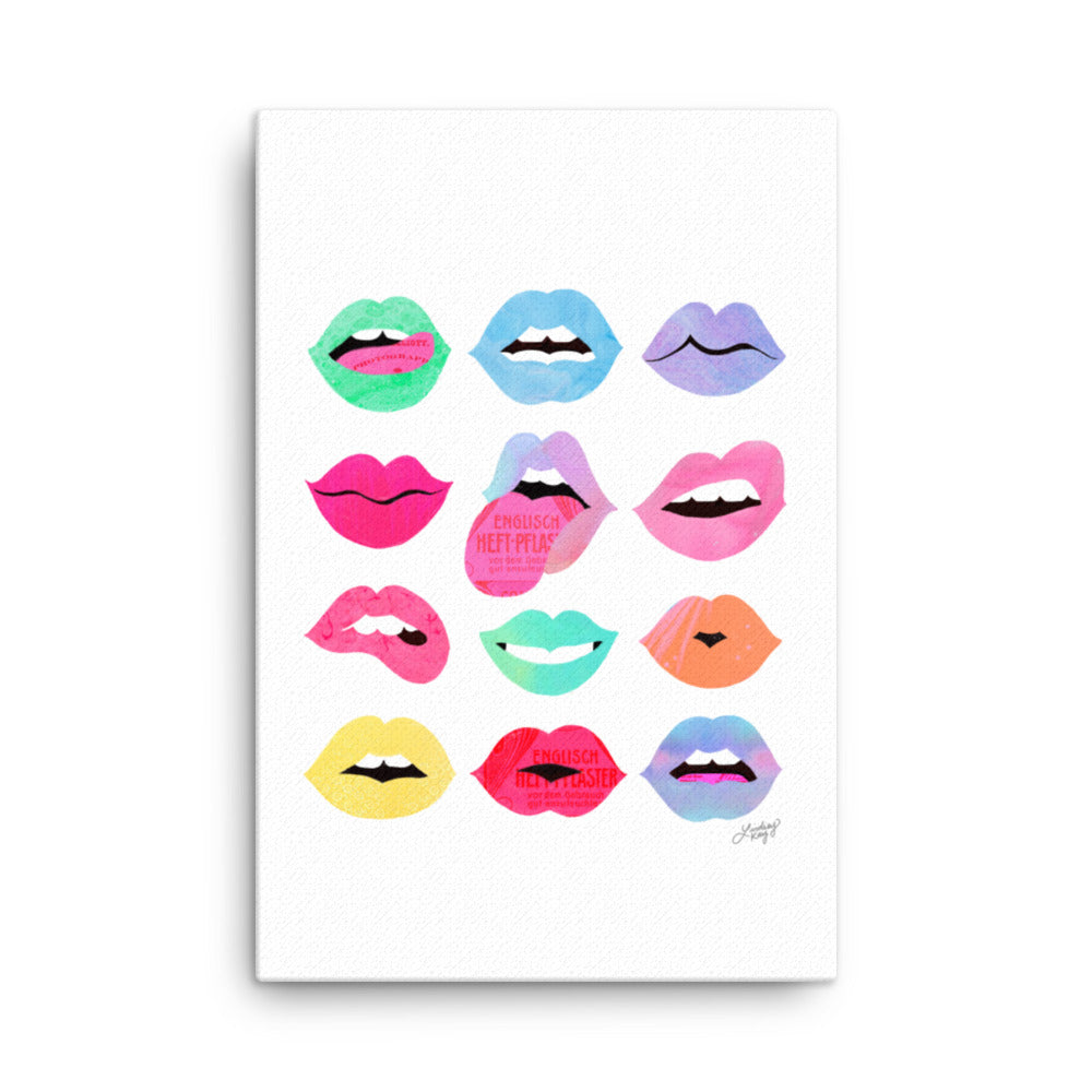 lips of love canvas designed by lindsey kay collective