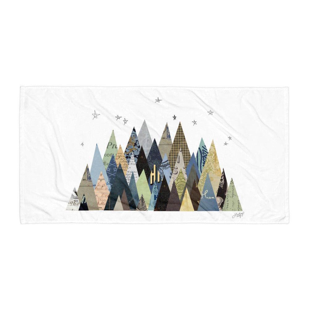 Mountains Collage - Beach Towel
