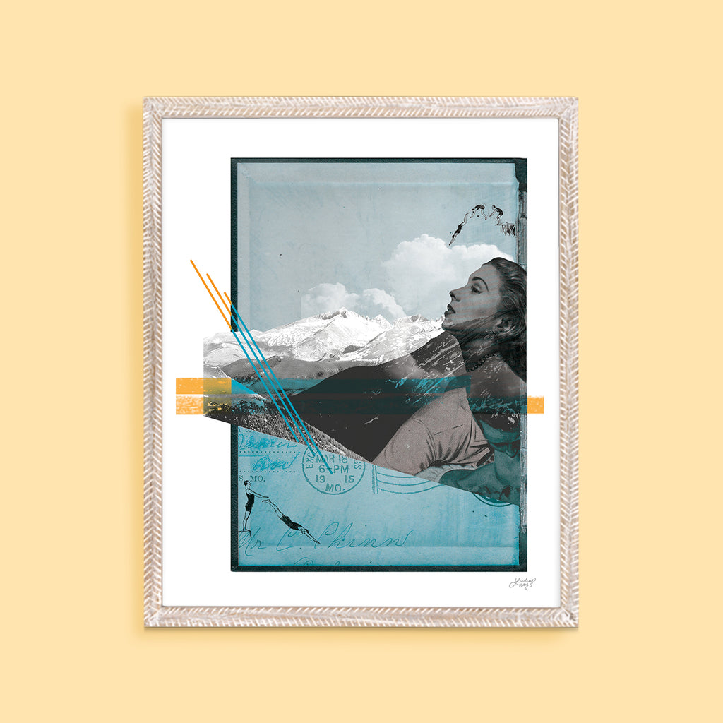 Mountain Myth - Collage Art Print - Lindsey Kay Collective