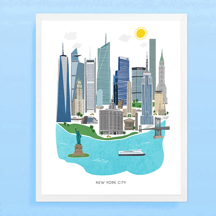 New York City Illustration - Art Print