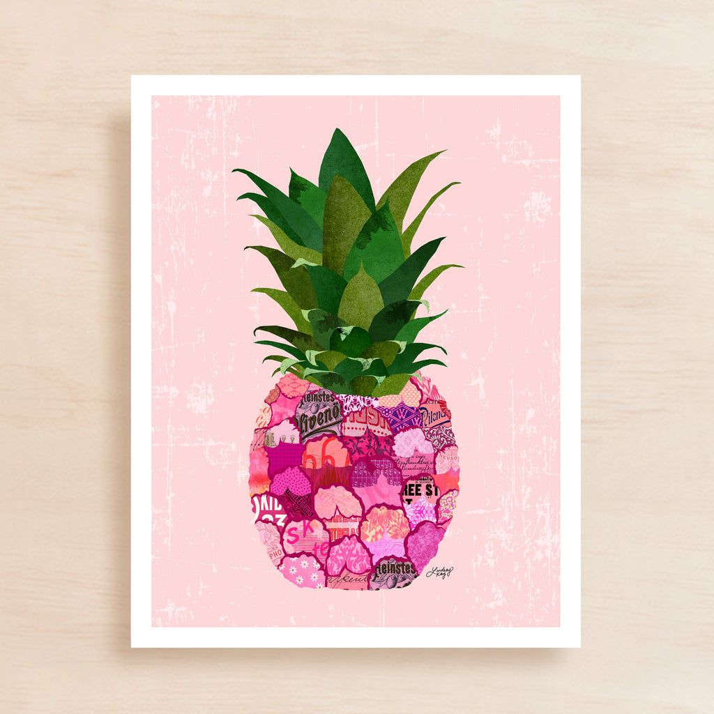Pineapple Collage - Art Print - Lindsey Kay Collective