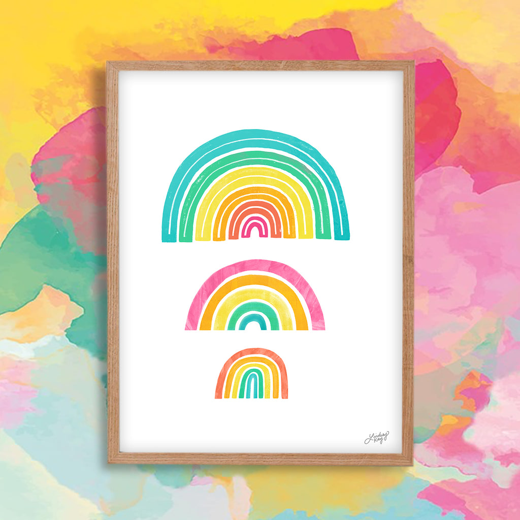 Rainbows - Art Print - Lindsey Kay Collective