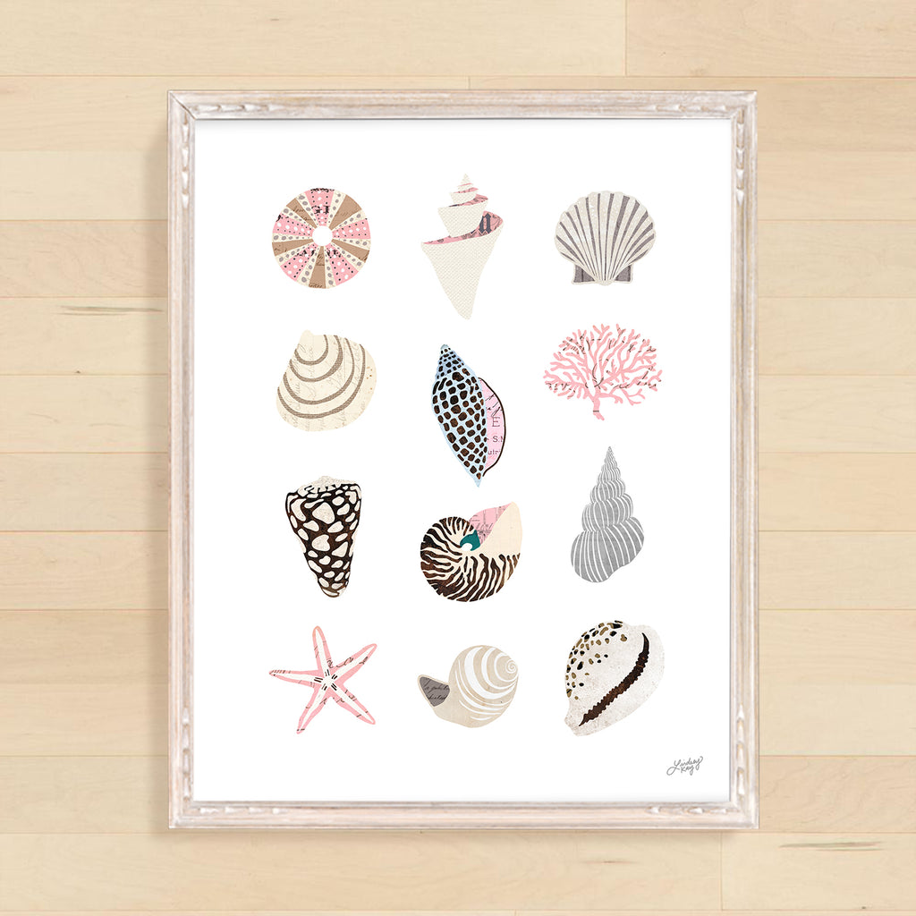 Seashell Collage - Art Print - Lindsey Kay Collective