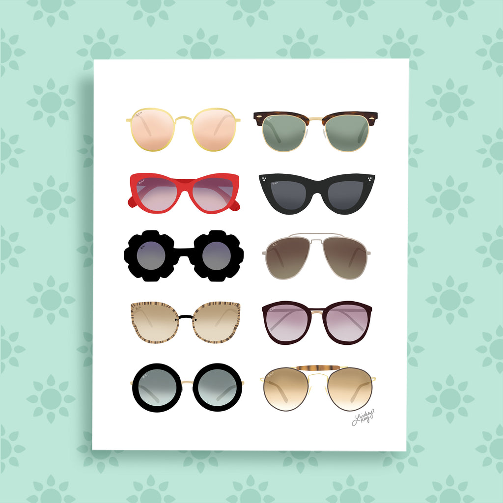 Sunglasses - Art Print - Lindsey Kay Collective