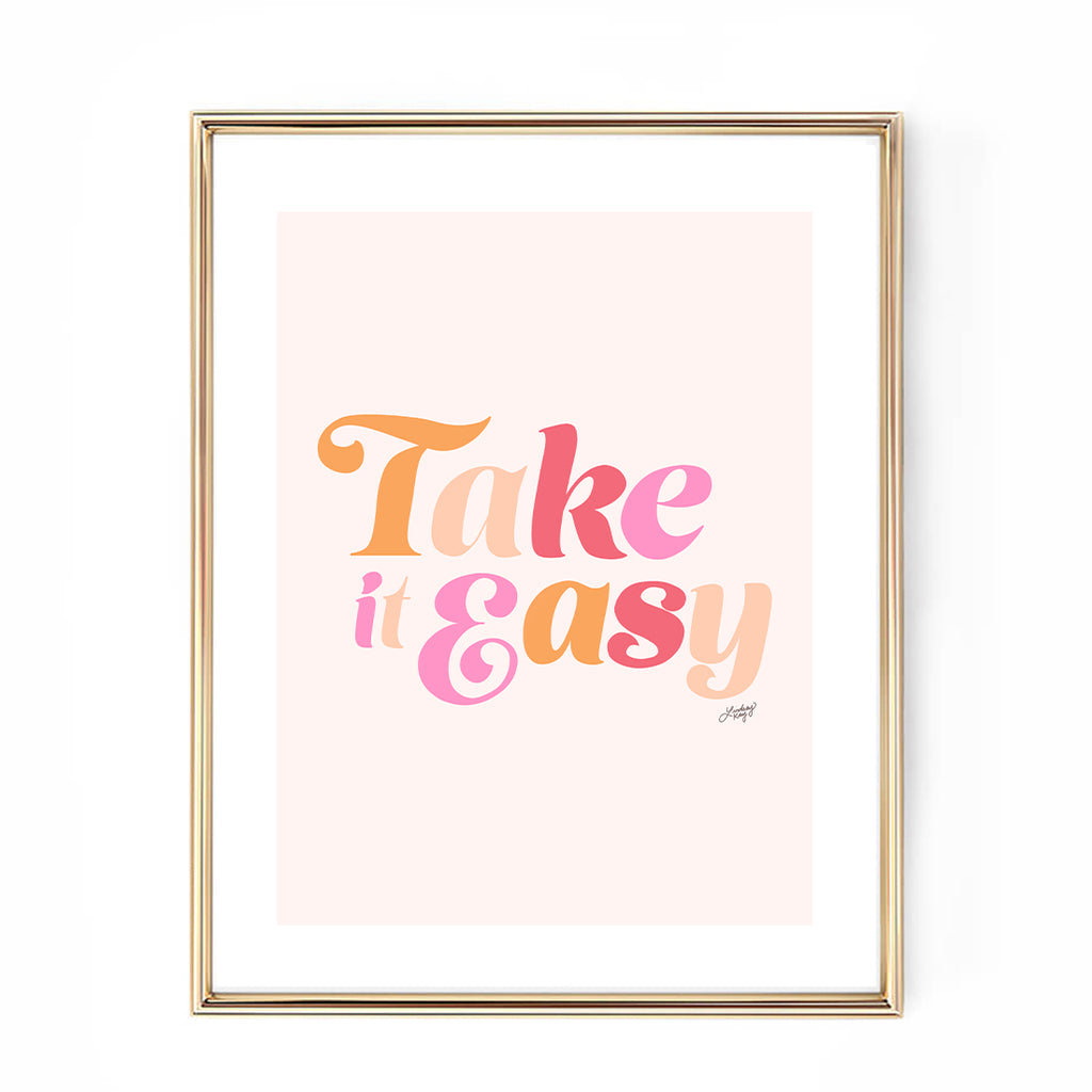 take it easy the eagles lyrics art print hand drawn lettering lindsey kay collective
