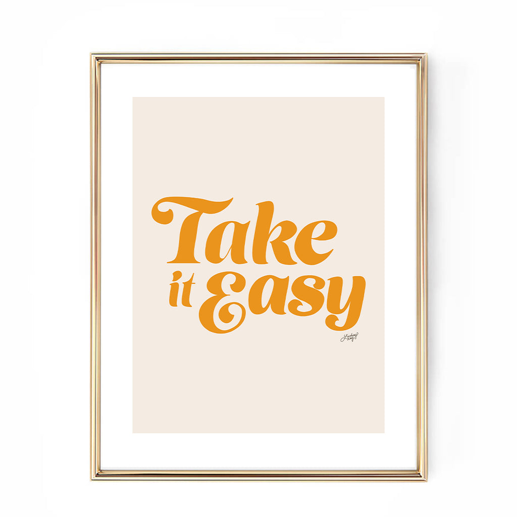 take it easy the eagles lyrics yellow palette art print hand drawn lettering lindsey kay collective