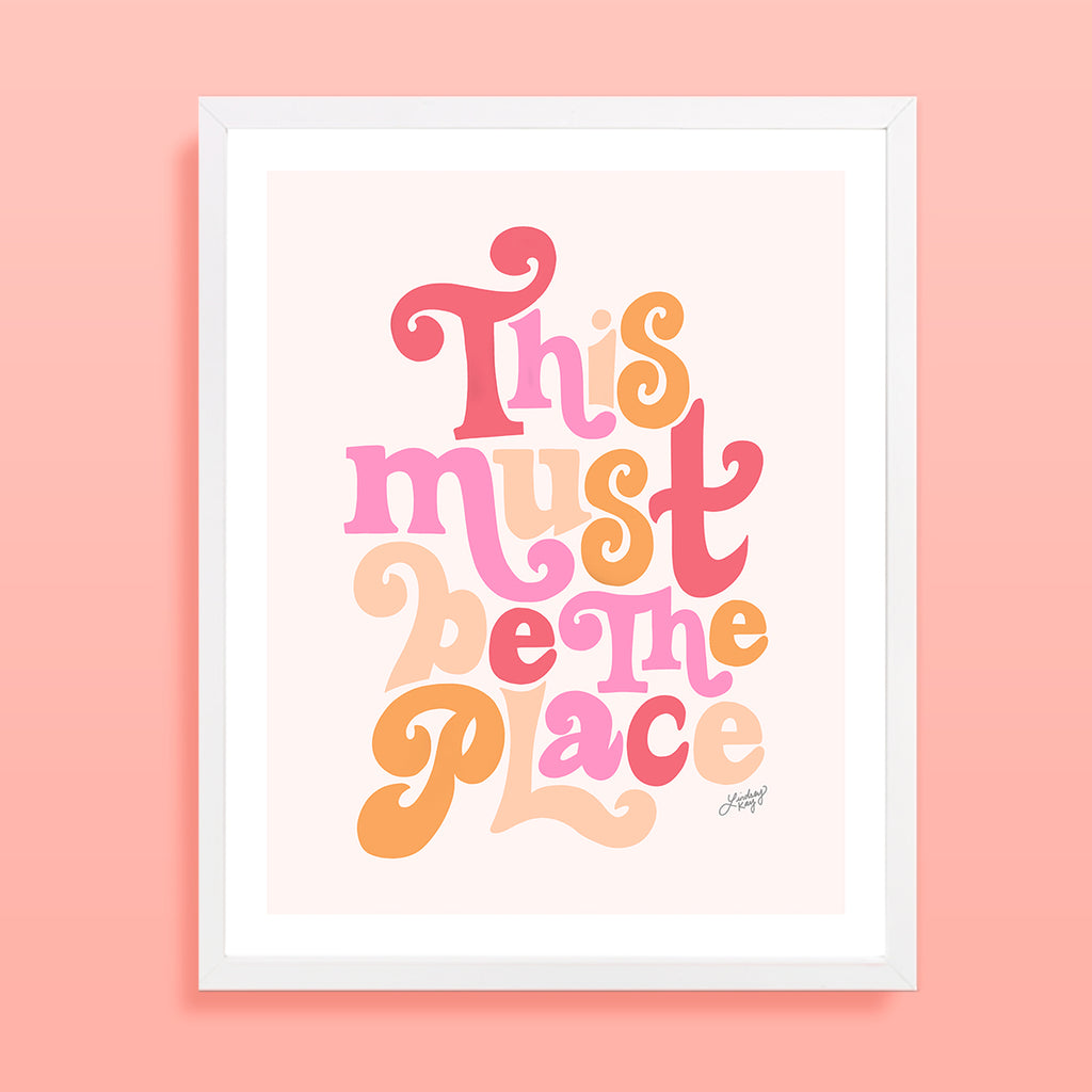 This Must Be The Place (Bright Palette) - Art Print