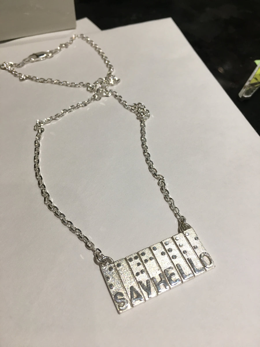 Necklace Individually Hand Crafted Sterling Silver