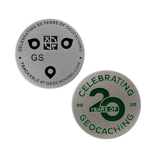 Celebrating 20 Years of Geocaching Micro Geocoin