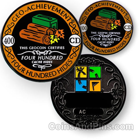 400 hides - Geo-Achievement Award Coin and Pin set