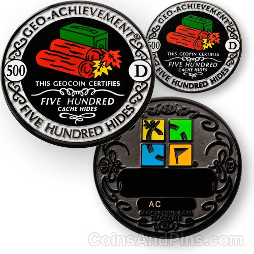 500 hides - Geo-Achievement Award Coin and Pin set