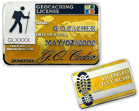 Geocaching License Geocoin