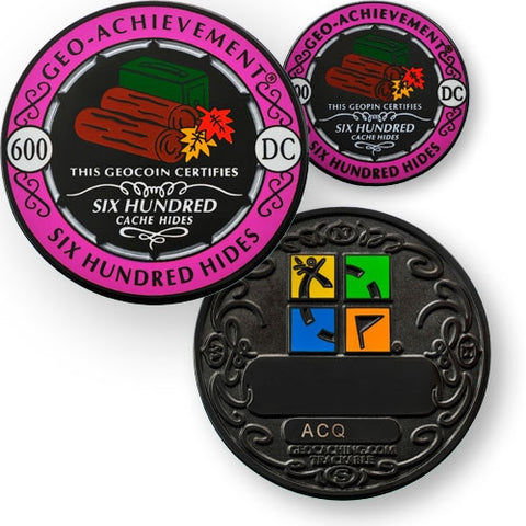 600 hides - Geo-Achievement Award Coin and Pin set