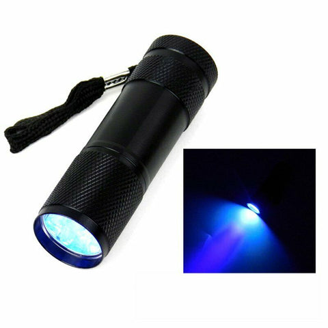 Mini UV Blacklight Flashlight 9LED