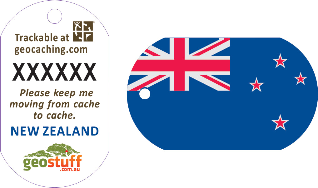 New Zealand Flag Travel Tag