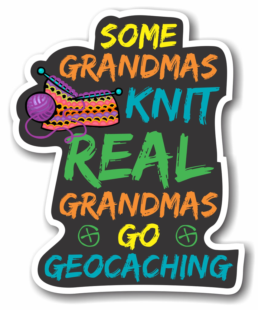 Sticker Geocaching Grandmas Knit