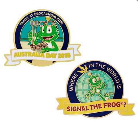 Australia Day Geocoin 2018 - Where in the world is Signal the Frog®?