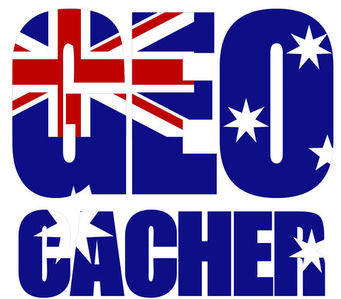 GEO Cacher - Australian Flag Vehicle Decal - Medium