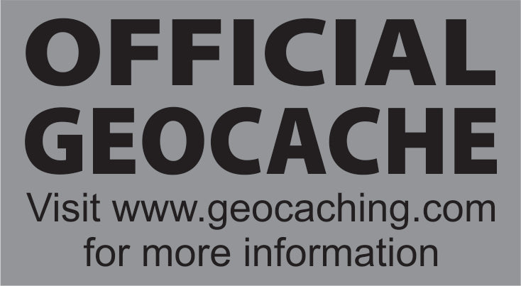 Geocache Sticker - Tiny Grey