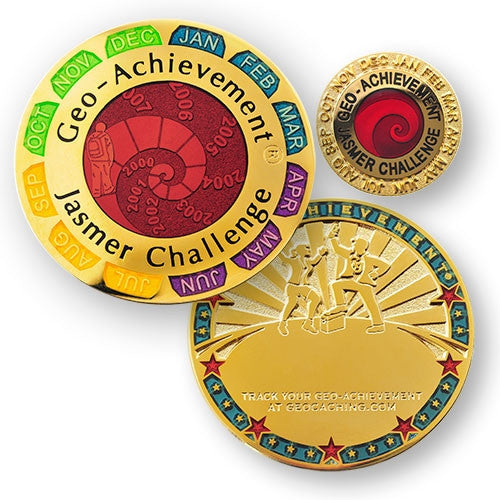 Jasmer Challenge - Geo-Achievement Award Coin and Pin set