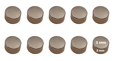 Neodymium Rare Earth Magnet disc - 3mm x 2mm - pack of 10