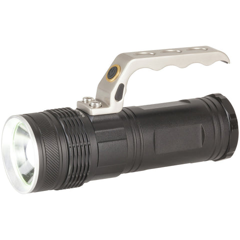 LED Spotlight with Adjustable Beam and Cree XML LED 600 Lumen Rechargeable