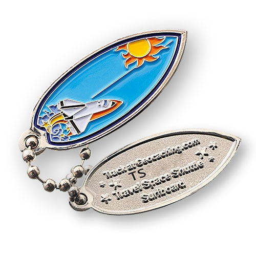 Space Shuttle Surfboard Travel Tag