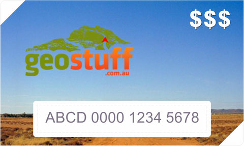 Geostuff.com.au Electronic Virtual Gift Voucher / Card