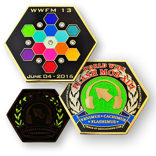 WWFM Flash Mob XIII (2016) event geocoin