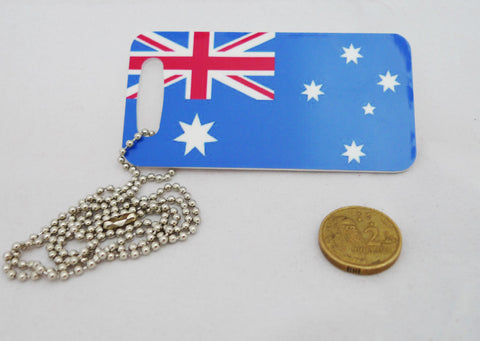 "Australian Flag ""Super"" Travel Tag"