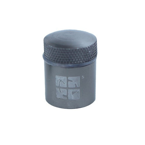 Gun Metal Grey Magna Nano Cache Container - with Logo