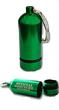 Green Bison Tube Geocache Container